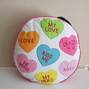 Levtex Candy Hearts Round Decorative Pillow